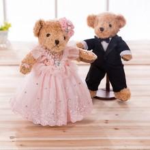 Горячая Свадебный плюшевый медведь креативный мультфильм плюшевая игрушка кукла-обработка настраиваемый логотип рекрут агенты