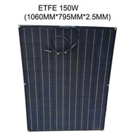 solar panel 150w, ETFE flexible solar panel, strong and durable for charging 12v battery