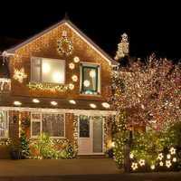 BHomify 10M 100 guirnalda de luz LED árbol de Navidad Luz de hadas luz impermeable casa jardín fiesta al aire libre vacaciones Decoración
