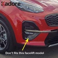 For Kia Sportage 2019 2018 2017 Chrome Front Foglight Fog Light Cover Trim Car Sticker Decoration Protect Exterior Accessories