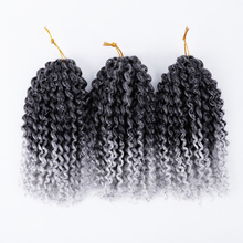 Black Star marlybob crochet hair afro kinky curly braids synthetic braiding jumbo jerry curl extension