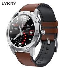LYKRY DT98 שיחת Bluetooth חכם שעון מלא מסך מגע IP68 עמיד למים PPG קצב לב לחץ דם צג עבור xiaomi huawei