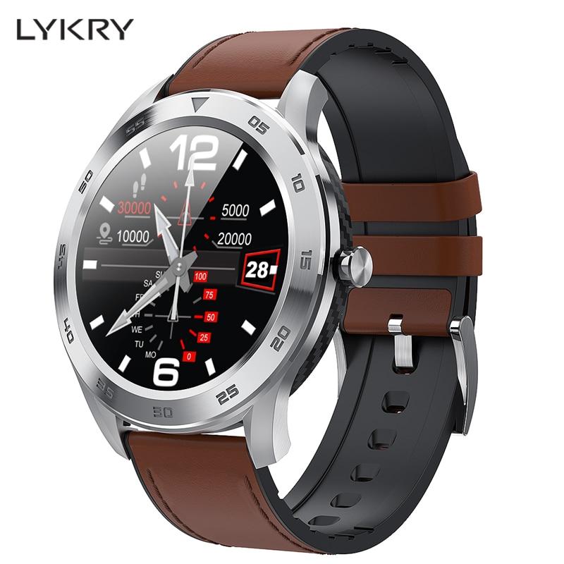 LYKRY DT98 Bluetooth appel montre intelligente plein écran tactile IP68 étanche PPG fréquence cardiaque moniteur de pression artérielle pour xiaomi huawei