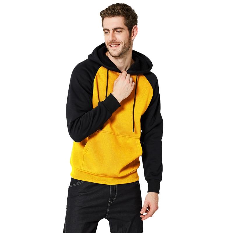 Autumn And Winter New Style Men's DIY Hoodie Street Color Block Hooded Jacket Multi-Color Panel Hoodie Men's