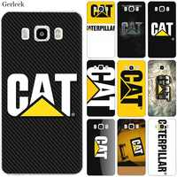Caja del teléfono móvil del TPU para Samsung A70 A50 A60 A40 A30 A20 A10 A5 A6 A7 A8 A9 cubierta gato caterpillar logotipo