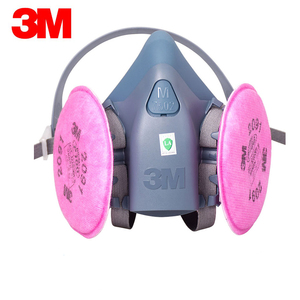 Image 2 - 3M 7502 Half Face Respirator Painting Spraying Gas Mask Chemcial Safety Work Gas Mask Proof Dust Facepiece Respirator Mask
