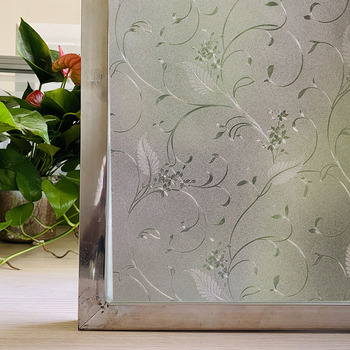 Matte Vinyl window film stained glass decorative uv sticker privacy Frosted adhesive decal for