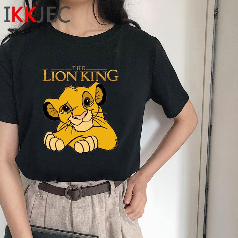 Hakuna Matata Harajuku Funny Cartoon T Shirt Women Lion King Simba T-shirt Cute Anime Ullzang Tshirt Streetwear Top Tees Female
