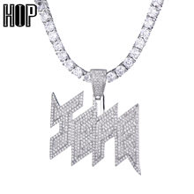 Colgante y collares para hombres, collar de rapero, Hip Hop, joyería, accesorios