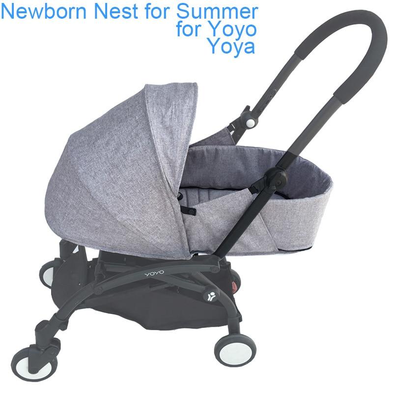 Yoya Baby Stroller Accessories Summer Newborn Nest Sleeping Basket For Babyzen Yoyo
