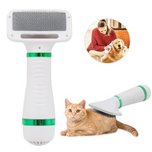 Pet Hair Dryer Portable  2 in 1 Dog Hair Dryer Home Pet Grooming Cat Hair Comb Dog Fur Blower Adjustable Temperature Pet Brush