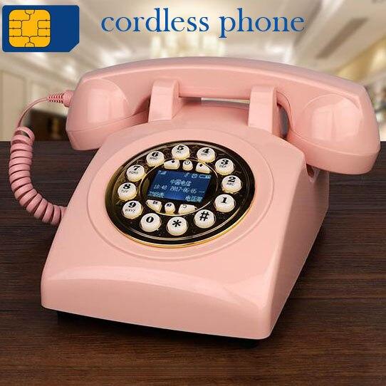 900MHz 1800MHz GSM carte SIM fixe antique téléphone sans fil rétro téléphone sans fil maison bureau hôtel rouge noir salon