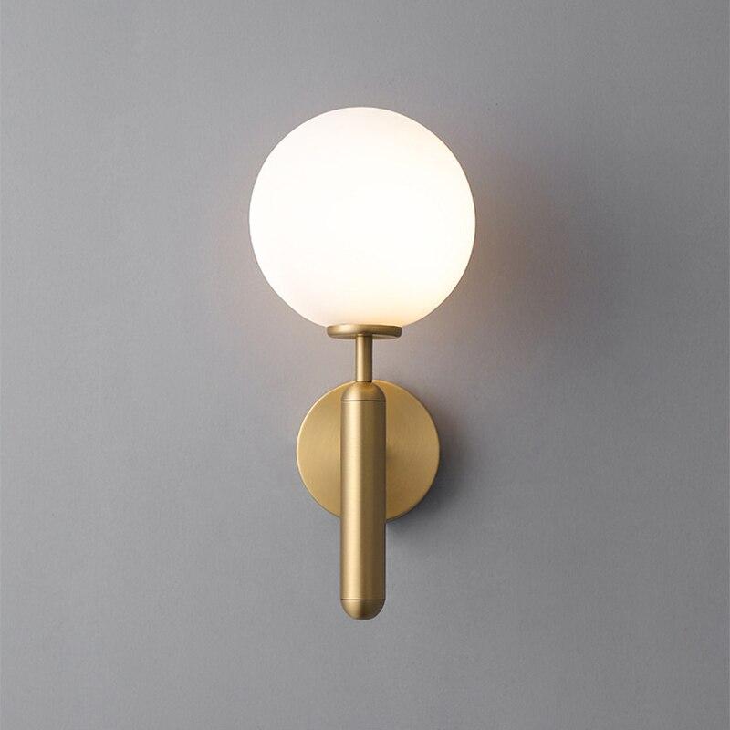 decorativo led luzes de parede luminarias nordic bola vidro wandlamp up down espelho do banheiro luz