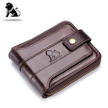Genuine leather men wallets Quality guarantee short male cow