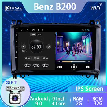 For Mercedes-b Benz Car Radio for B200 A B Class W169 W245 Viano Vito W639 Sprinter W906 2008-2011 Android 9.0 9 Inch Multimedia image