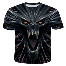 Funny Skull 3D Print T Shirt Summer Hipster Short Sleeve Tee Tops Men/Women Anime T-Shirts Homme Male Clothing