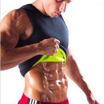 New Plus Size Men Slim Gym Neoprene Vest Body Shaper Sauna Ultra Sweat slimming Corset Shirt 1