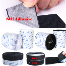 100MM/110MM Width Strong Self-Adhesive Hook and loop fastener Tape Nylon Sticker Velcros Adhesive with Glue For DIY Accessories