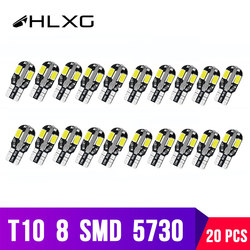 20Pieces t10 Led W5W 501 158 168 Turn Signals interior Lamp w16w Parking Reading Clearance bulbs for cars Side Lights hlxg Auto