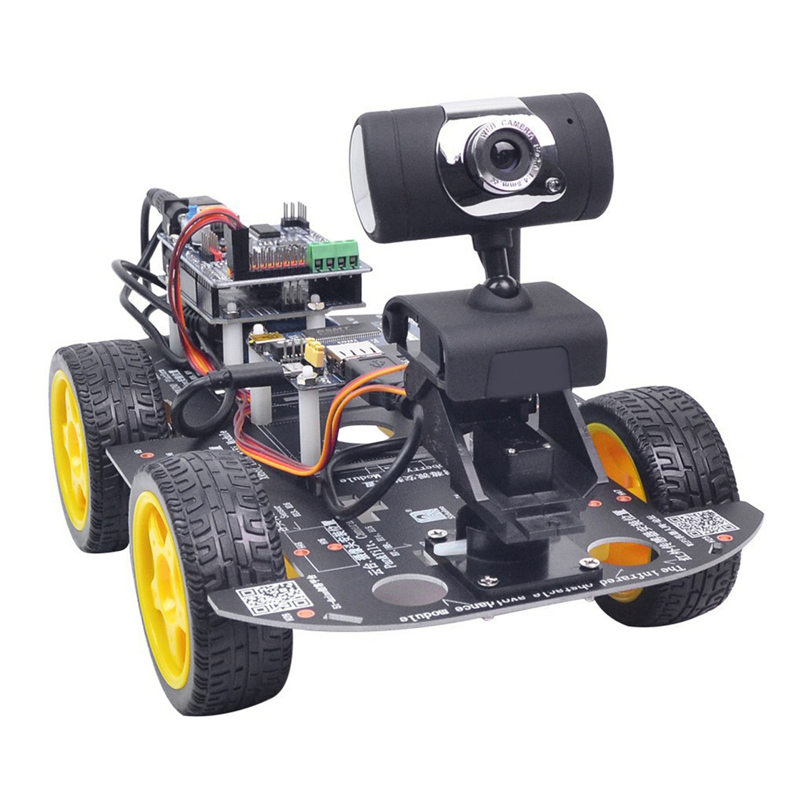 New DIY Programmable Robot Car Wifi Steam Educational Car For Raspberry Pi 4 (2G) - Standard Edition US Plug