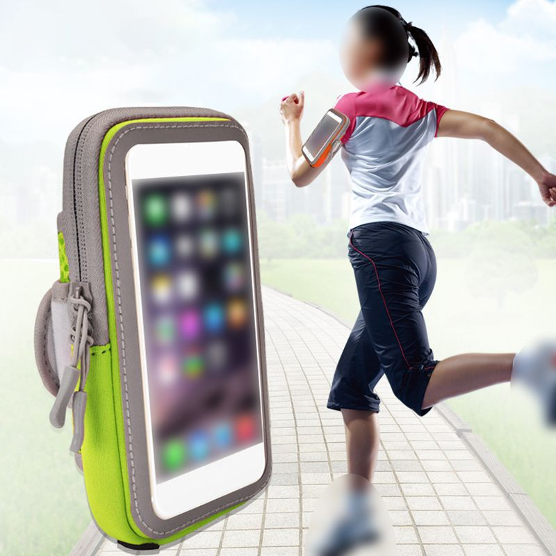 Sports Mobile Phone Arm Bag Outdoor Breathable Sports Touch Screen Running Arm Bag Slim  Pocket Belt