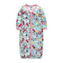 Kavkas/детская одежда для сна с длинными рукавами и круглым вырезом, хлопок, одежда для сна для маленьких девочек, комбинезоны для новорожденных 3, 6, 9 месяцев, Roupa De Bebes