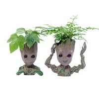 Accessoires de décoration pour la maison bébé Groot porte-stylo plantes Pot de fleur mignon arbre Figurines modèle Miniature décoration de bureau ornementens