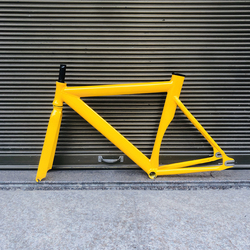 Mengikuti Rangka Sepeda Road Sepeda Aluminium Paduan Biycle Bingkai Gigi Tetap Sepeda Bingkai Garpu 52 Cm Frame Sepeda