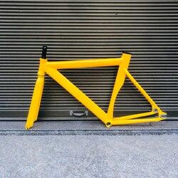 Pista Ciclabile Telaio da Strada Della Bicicletta in Lega di Alluminio Cornice Biycle Bici a Scatto Fisso Telaio Forcella 52 Centimetri Telaio Della Bicicletta