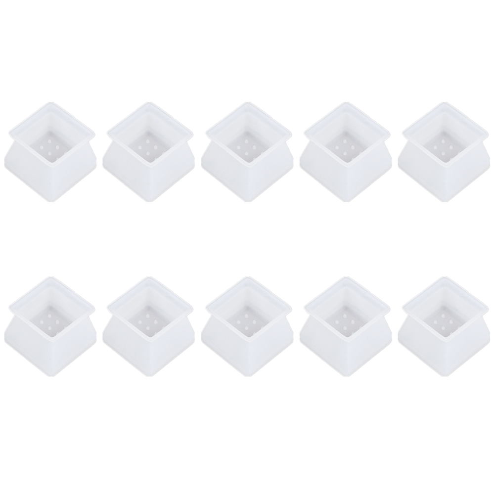 10pcs Scratchproof Floor Protector Home Non Slip Noise Reduction Moving Furniture Sofa Chair Leg Cover Soft Silicone Square