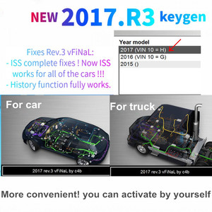 Image 2 - 2021 أحدث 2017.R3 R3 برنامج KEYGEN دعم وظيفة ISS ل vd tcs cdp vd ds150e cdp ل delphis obd2 الماسح الضوئي لشاحنة سيارة