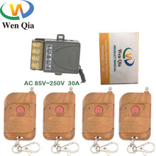 433MHz Wireless Universal Remote Control AC220V 30A 6600W 1CH rf Relay Receiver and Transmitter for light/ Exhaust System Switch hot sales ac220v mini size rf wireless remote control switch system 4transmitter