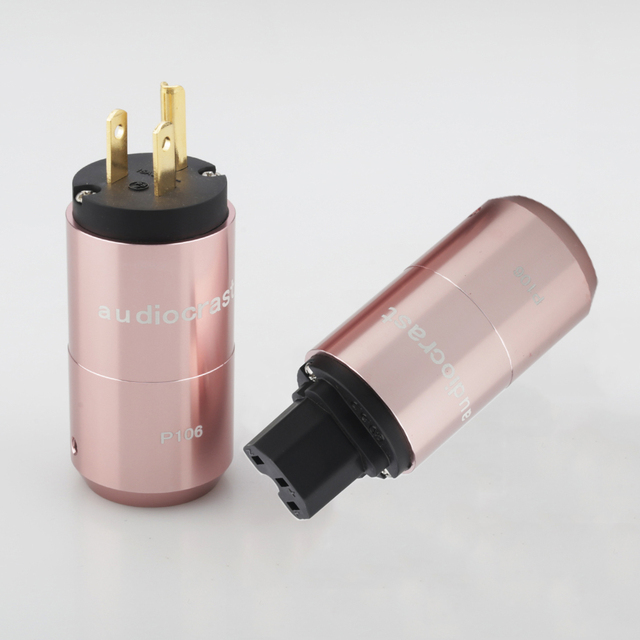 Audiocrast paire P106G plaqué or connecteur dalimentation américain + connecteur IEC prise dalimentation câble dalimentation ca US prise bricolage