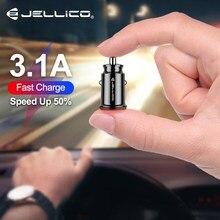 Jellico 12v carregador de carro duplo usb 3.1a carregamento rápido para iphone samsung mini usb carro de carregamento automático-carregador acessórios