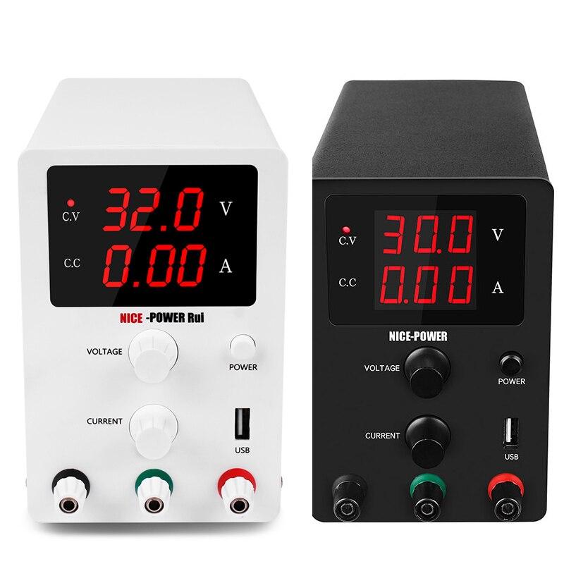 Nice HQ USB DC laboratoire 60V 5A régulé alimentation réglable 30V 10A régulateur de tension stabilisateur commutation banc Source