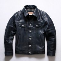 X507 Read Description! Asian Size Super Top Quality Genuine Horse Leather Slim Classic Durable Horsehide Stylish Rider Jacket