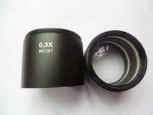 0.3X Microscope Auxiliary Objective Lens Barlow Lens 1-7/8 48mm Thread for Trinocular Binocular 2 pcs stereo microscope 0 3x auxiliary objective lens barlow lens with 1 7 8 48mm mounting thread