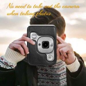Image 3 - Compact Size Instant Camera Case Tas Compatibel Met Fujifilm Fuji Instax Mini Liplay Pu Leer Met Schouderband