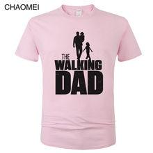 2019 nova Omnitee The Walking Pai T Shirt Homens Camiseta Tops Casual T Camisas de Manga Curta Dos Homens do Dia dos Pais dom pai T-shirt Tee C84
