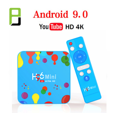 Android 9.0 H96 Mini H6 TV Box Quad Core H.265 Wifi HD Google Player Youtube 4K media Player smart tv iptv box Android boxes
