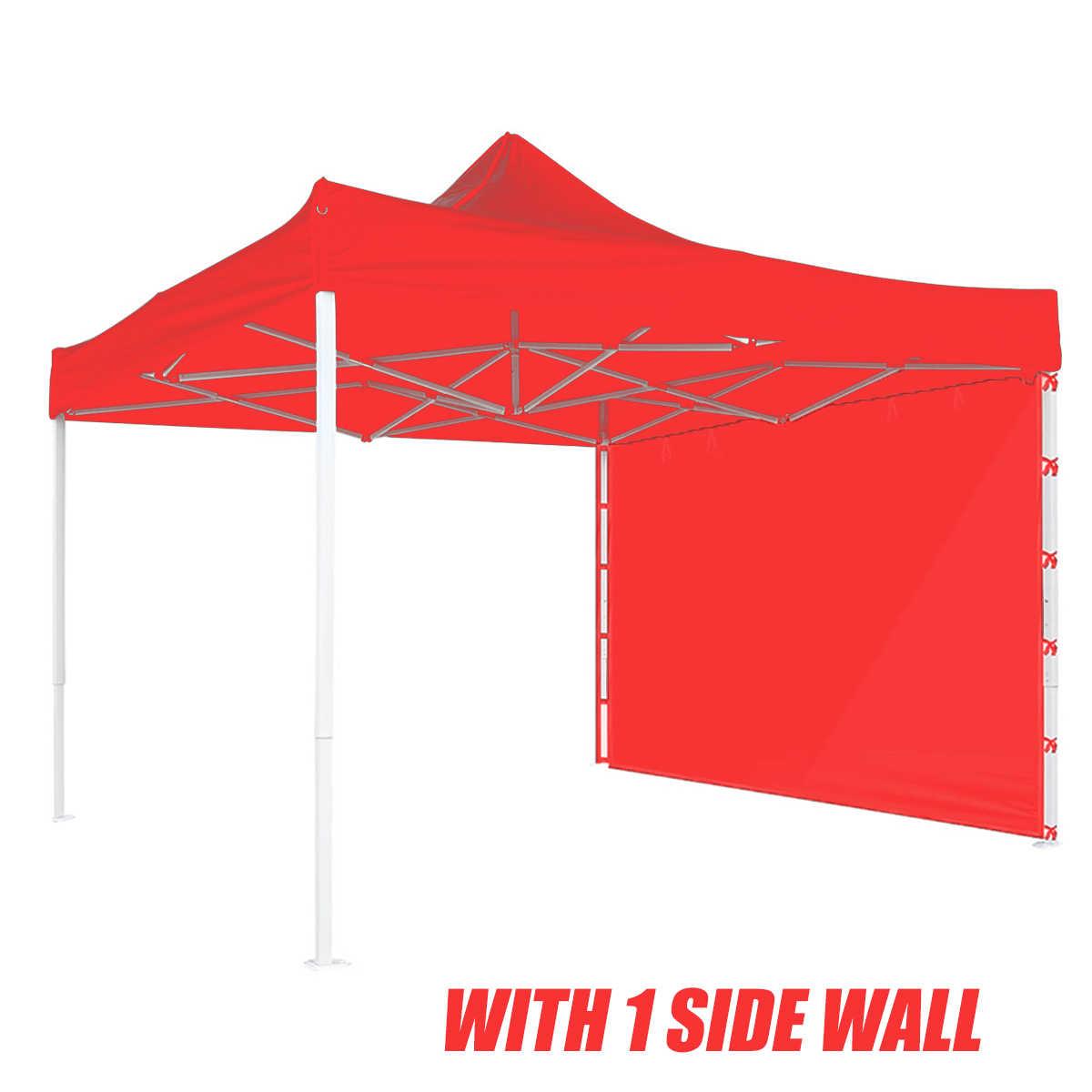 3x3m Oxford Tuch Party Zelt Einzigen Seitenwand Wasserdicht Garten Terrasse Im Freien Baldachin Sonne Wand Sonnenschirm Plane Seitenwand sonnenschirm Rot