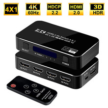 2020 4 Port 18Gbps HDR 4K HDMI 2.0 Switch 4x1 Support HDCP 2.2 HDMI Switch HUB Box With IR Mini HDMI Switch Remote For PS4 360(China)