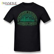 Arkham Horror T Shirt Miskatonic Historical Society T-Shirt Man Cotton Tee Cute Oversized Printed Short-Sleeve Tshirt