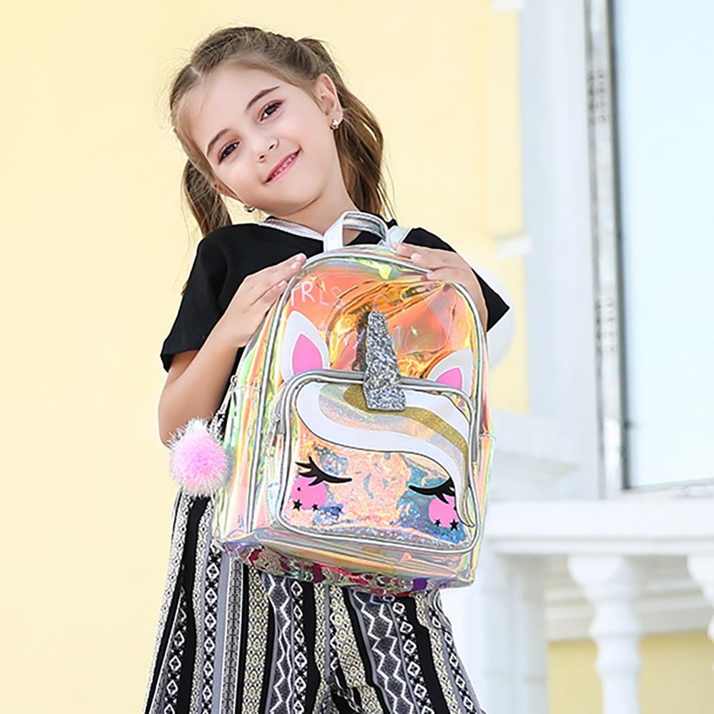 Unicorn Bagpack For Kids Clear Gilr/boy Backpacks