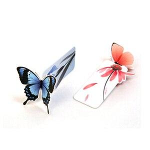5 шт. Цветочная Закладка с принтом канцелярские книги мини бумага 3D стерео бабочка закладки для детей школьные принадлежности для школьнико...
