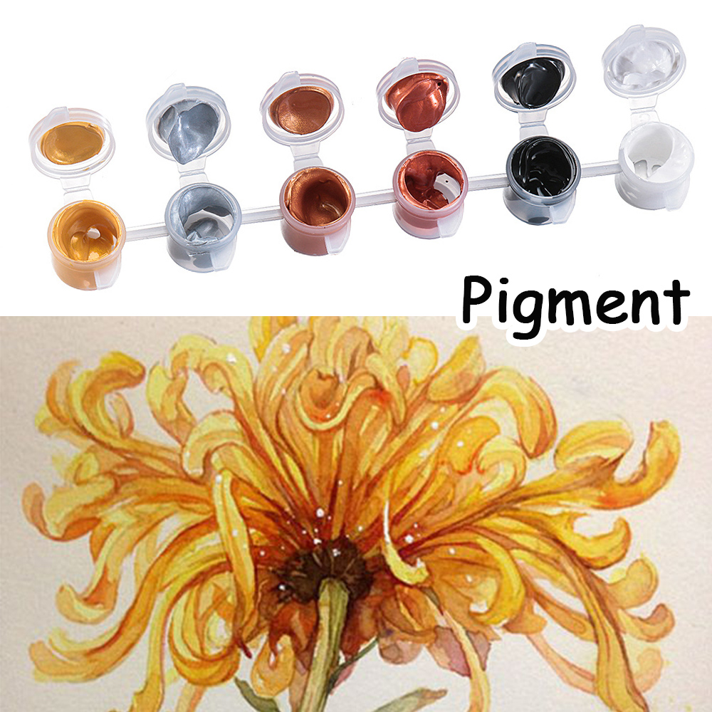 Different Colors Metallic Color Acrylic Paint For Art Supplies Textile Drawing Wall Hand Painted Shining Gel Painting Pigment