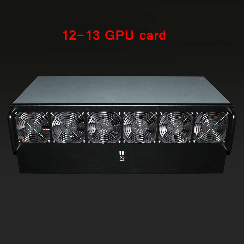 Crypto Miner Case Asic Bitcoin USB Miner Rackmount PC Server Mining Rig Open Frame For RX 470 480 570 12 Or 13 GTX1080 GPU Card in Computer Cases Towers from Computer Office