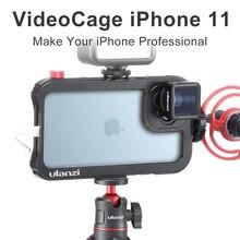 Ulanzi jaula para lente de teléfono, aparejo con zapata Clod para iPhone 11/11 Pro/11 Pro Max para lente anamórfica de 17MM