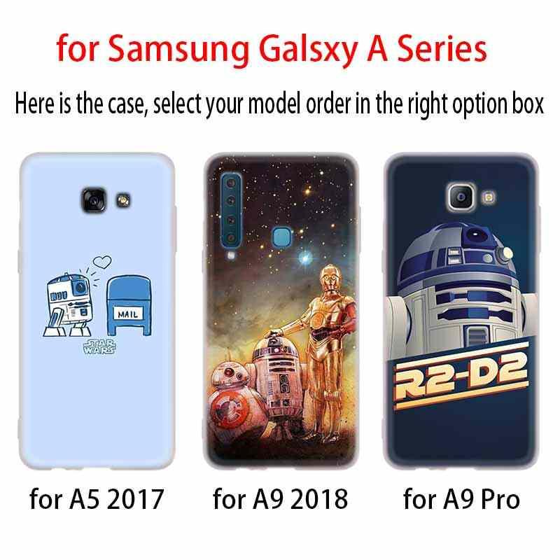 Star wars YODA e bb8 caso capa de Silicone Para Samsung Galaxy A6 A8 A9 A7 A5 A3 Plus 2018 2017 2016 2015 A6S Pro Estrela