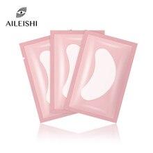 10/50/100 almofadas de olho dos pces para a extensão da pestana sob remendos da pestana do olho remendos de papel cor-de-rosa lint adesivos livres para cílios postiços